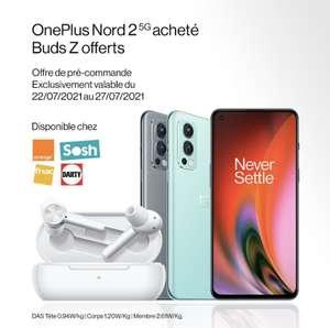 """[Précommande] Ecouteur OnePlus Buds Z offerts pour la précommande d'un Smartphone 6.43"""" OnePlus Nord 2"""