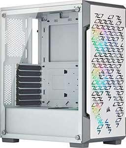 Boitier PC Corsair iCUE 220T RGB Airflow - Moyen-Tour, ATX, Blanc