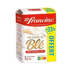 Paquet de farine de blé tous usages T45 Francine (1.33kg)