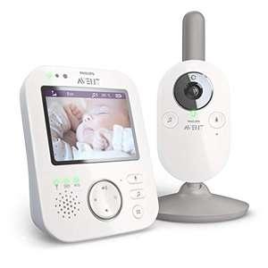 "Babyphone vidéo Philips Avent SCD843/01 A-FHSS - Ecran LCD 3.5"", Berceuses, Veilleuse, Alerte pleurs, Infrarouge"