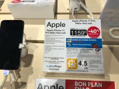 """Smartphone 5.8"""" Apple Phone 11 Pro - 64 Go (Chateauroux 36)"""