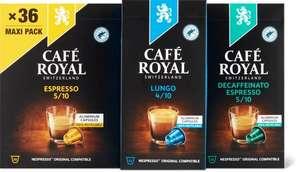 33% de réduction sur les capsules Café Royal dès 3 articles achetés - Ex : 3 Paquets de Café Royal lungo 36 capsules (Frontaliers Suisse)