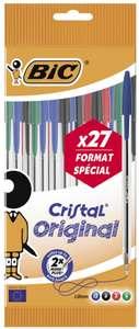 Sélections de fourniture en promotion - Ex : Lot de 27 stylos Bic Crystal Original (via 1.4€ fidélité)