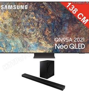 """TV Neo QLED 55"""" Samsung QE55QN95A - 4K UHD, Smart TV + Barre de Son Samsung HW-Q60T (Via ODR de 400€)"""