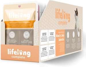 [Abonnement] Lot de 24 paquets viande en sauce pour chats adultes Lifelong (24 x 100 g)