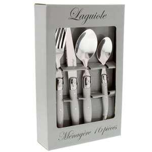 Ménagère Laguiole - 16 pièces, manches gris uni