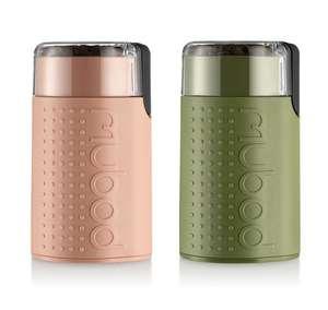Moulin à café électrique Bodum Bistro - 150W, Vert ou Rose Pâle