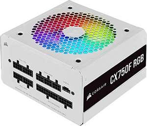 Alimentation PC Modulaire Corsair CX750F RGB - 750W, Blanc