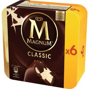 Lot de 3 boites de 6 bâtonnets de glace Magnum