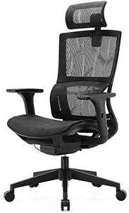 Siège de bureau ergonomique Sihoo - avec appui-tête réglable, support lombaire et accoudoirs, noir (vendeur tiers)