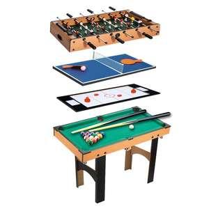 Table multi-jeux Homcom 4-en-1 (air hockey, baby-foot, billard et ping-pong) - en bois, 87x43x73 cm, avec accessoires