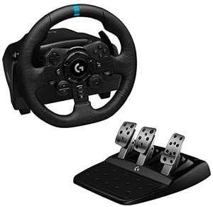 Volant de Course Logitech G923 Trueforce + Pédalier sur PS5, PS4, PC