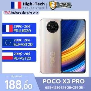 """Smartphone 6.67"""" Poco X3 Pro - 6 Go de Ram, 128 Go (177€ avec SDFED01)"""