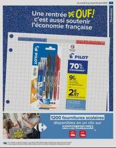 Sélection de produits en promotion - Ex: Lot de 3 Stylos Pilot Frixion + 6 recharges (via 6.93€ sur la carte)