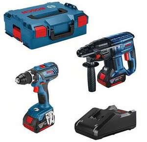 Coffret de 2 outils Bosch 0615990M0R (18 V) - perceuse-visseuse GSR 18V-28 + perforateur GBH 18V-21 + 2 batteries 4.0 Ah + chargeur