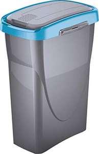 Poubelle de Tri-Sélectif M-Home PLS8286-83 - Plastique, Argent/Bleu, 25 L