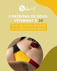 3 patrons de sous vêtements à imprimer au prix unitaire de 3€ - hommes, femmes et enfants (dématérialisés)