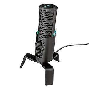 Microphone Trust Gaming GXT 258 Fyru USB avec 4 directivités (Cardioïde, Bidirectionnel, Stéréo et Omnidirectionnel) pour PC, PS4, PS5