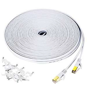 Câble Ethernet RJ45 Yorepek - cat. 7, 15 m, blanc (vendeur tiers)