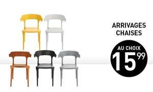 Chaise Declic Home - Terracotta, Noire, Blanche, Jaune ou Grise