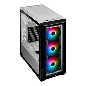 Boitier PC Corsair iCUE 220T RGB - Verre Trempé, ATX, Blanc