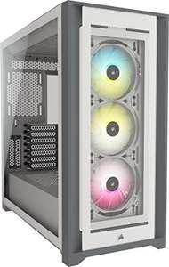 Boitier PC Corsair iCUE 5000X RGB - Blanc, E-ATX, Moyen Tour (Frais d'importation inclus)