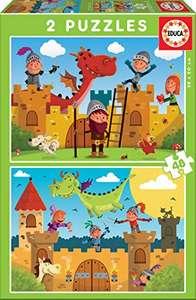 Puzzle Dragons Et chevaliers Educa - 2x48 pièces