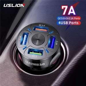 [Nouveaux clients] Adaptateur de charge rapide smartphone Uslion - 4 ports USB, 48W 7A
