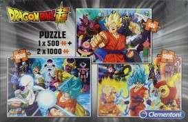 3 Puzzles Clementoni Dragon Ball Super (1x 500 + 2x 1000 Pièces)