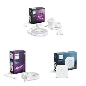Pack Philips Hue White & Color Ambiance Indoor LightStrips/ 2m + Extension Ambiance LightStrips/ 1m + Pont de Connexion