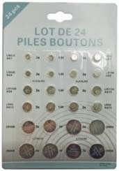 Lot de 24 piles boutons