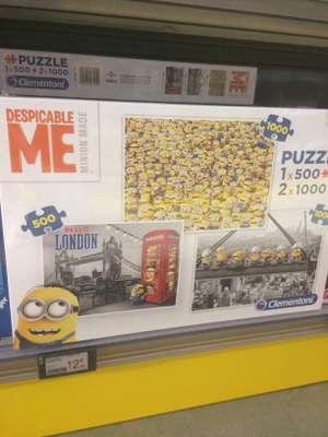 Pack de 3 Puzzles Clementoni Minions (1 x 500 + 2 x 1000 pièces) - Chambray les Tours (37)