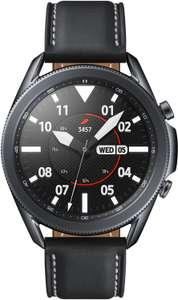 Montre connectée Samsung Galaxy Watch 3 - 45 mm, bracelet en cuir, noir ou argent