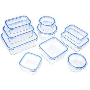 Lot de 10 récipients alimentaires en verre avec couvercle Amazon Basics