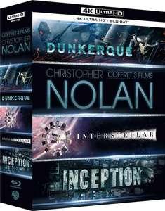 Coffret Blu-ray 4K UHD + Blu-ray + Digital HD Christopher Nolan - 3 Films : Dunkerque (Dunkirk) + Interstellar + Inception