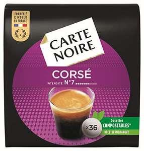 Lot de 10 paquets de 36 dosettes de café Carte Noire Corsé Intensité n° 7 - 10x36