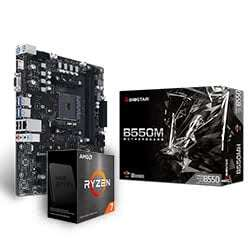 Processeur AMD Ryzen 7 5800X + Carte Mère B550M