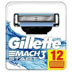 Pack de 12 lames de rasoir Gillette Mach3 Start