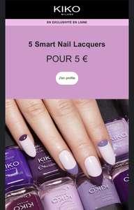 5 Smart Nail Lacquers pour seulement 5€