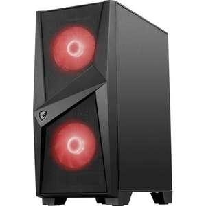Boitier PC Msi Mag Forge 100M - Noir, Verre trempé, Format ATX