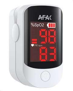 Oxymètre de pouls de doigt AFAC - Mesures Fréquence cardiaque (PR) & Saturation en oxygène (SpO2) - Vendeur tiers
