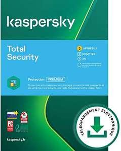 Logiciel anti-virus Kaspersky Total Security 2021 - 1 poste, pendant 1 an (dématérialisé)
