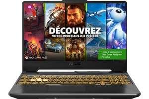 "PC portable 15.6"" Asus TUF Gaming F15 TUF566HC-HN008T - 144 Hz, i5-11400H, RTX 3050, 16 Go de RAM, 512 Go SSD, Windows 10"