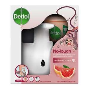 Distributeur de savon automatique Dettol NoTouch + recharge pamplemousse