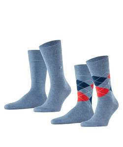 Sélection de produits en promotion - Ex : Lot de 2 paires de chaussettes pour Homme - Tailles 40 à 46 (burlington.de)
