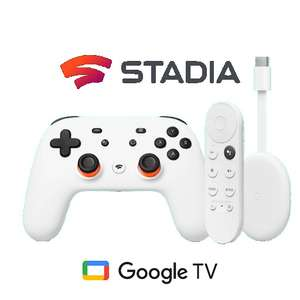 Pack Play and Watch : Chromecast Google TV + Manette Stadia