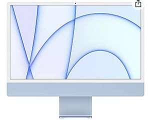 "PC AiO Apple iMac 24"" - 4480 x 2520 Pixels, Apple M1, 8 Go RAM, 256 Go SSD, Bleu"
