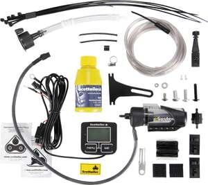 Graisseur de chaine moto Scottoiler Esystem + Scorpion Dual Injector