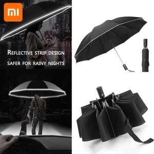 [Nouveaux clients] Parapluie automatique - 10 Baleines, Bande réfléchissante (Plusieurs coloris) - TVA incluse