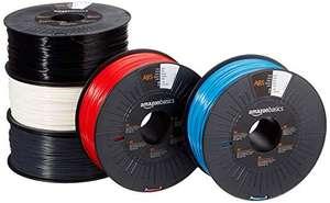 Lot de 5 bobines de filament ABS pour imprimante 3D Amazon Basics - 1.75 mm, coloris assortis, 5x1 kg